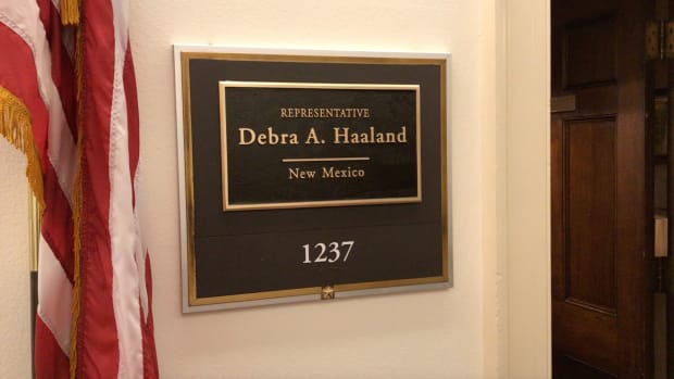 Office of New Mexico Rep. Deb Haaland, Pueblos of Laguna and Jemez, in Washington, D.C. (Photo by Jourdan Bennett-Begaye, Indian Country Today)