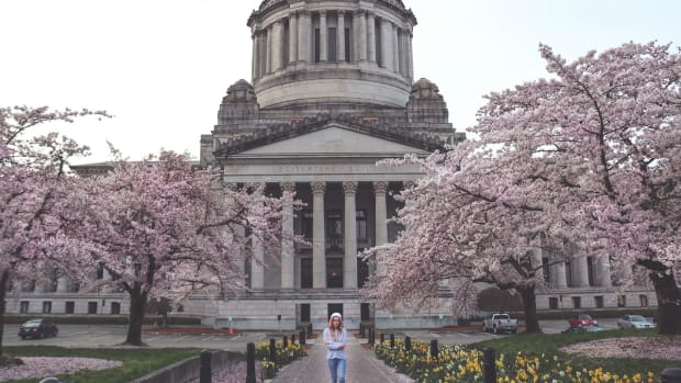 Pictured: Washington State Capital Building, Olympia.