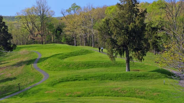 The Great Serpent Mound near Peebles, Ohio. (Photo courtesy of the Ohio History Connection)