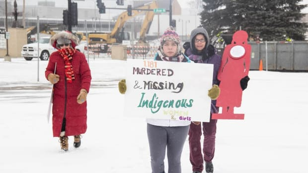 Valentine's Day has become the official day for Native women to recognize and memorialize the missing and murdered women and girls whom they believe government leaders in the United States and Canada too often ignore. (Photo byJolene Yazzie)
