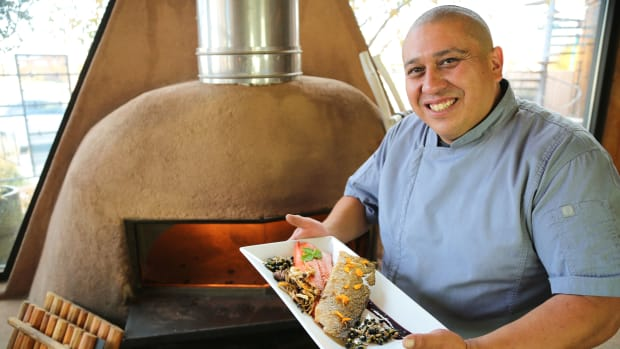 Executive chef of the Indian Pueblo Kitchen Ray Naranjo, Santa Clara Pueblo and Odawa (Photo courtesy of the Indian Pueblo Cultural Center)