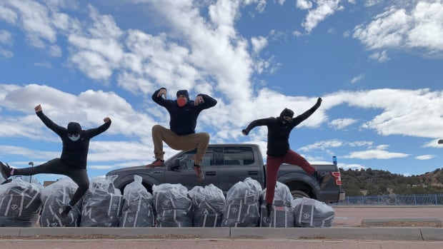 Pictured: Zuni Youth Enrichment Project staff distributed 500 self-care kits to the Zuni Pueblo community on February 12.