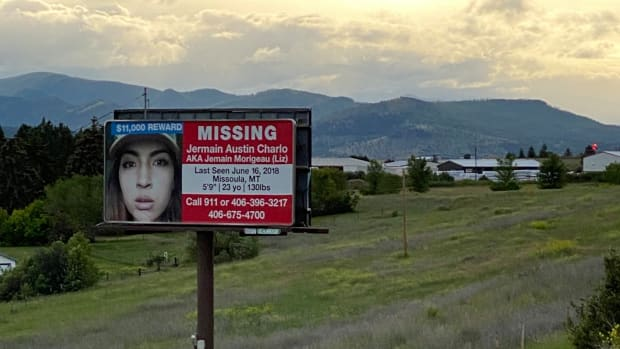Missing sign for Jermain Austin Charlo. (Connie Walker via Twitter)