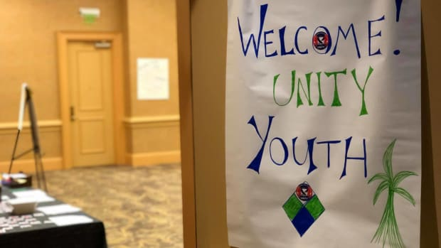 A UNITY sign for its July 2019 conference in Florida. (Photo courtesy of UNITY Facebook page)