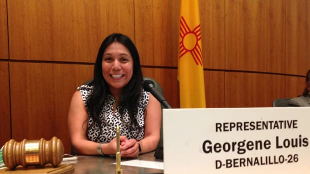 Georgene Louis, Acoma Pueblo, is a New Mexico state lawmaker and attorney. (Photo by Georgene for Congress)