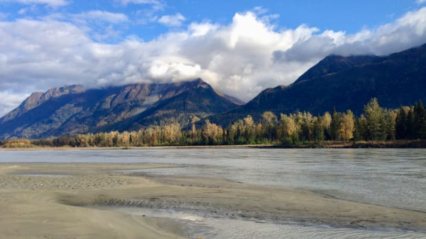 The Knik River in Alaska. Photo by Joaqlin Estus, Indian Country Today)