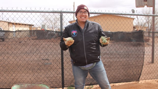 Darrell Yazzie, farmer with Tolani Lake Enterprises