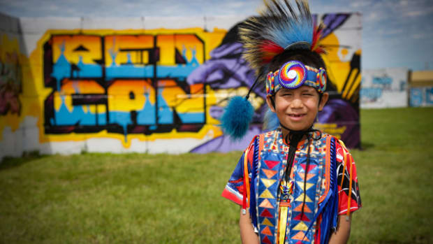 Pictured: A youth at Cheyenne River Youth Project's Red Can 2019.