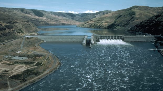 Pictured: Lower Granite Lock and Dam, on lower Snake River in southeastern Washington.