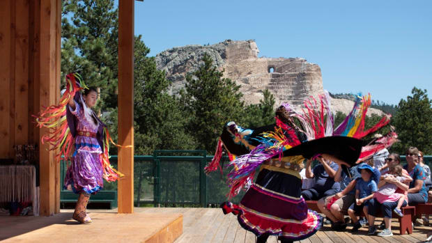 Pictured: Summer cultural programs at Crazy Horse Memorial include art demonstrations, classes, live performances and so much more.