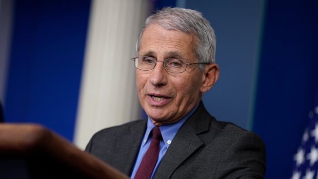 Director of the National Institute of Allergy and Infectious Diseases Dr. Anthony Fauci speaks during a coronavirus task force briefing at the White House, Friday, April 10, 2020, in Washington. (AP Photo/Evan Vucci)