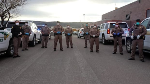 This weekend the Navajo Nation issued a 57-hour curfew .Tribal police and New Mexico National Guard standstand ready to enforce the hours of Friday 8 p.m. Friday to Monday 5 a.m. (Photo from Navajo Police Department, Facebook)