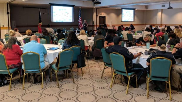 Pictured: Noojimo'iwewin training 2019 at Bay Mills Indian Community in Brimley, Michigan. The 2020 training will be streamed virtually on Zoom and will continue to address healing and looking forward from domestic violence.