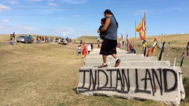 Dakota Access Pipeline in North Dakota on September 2, 2016. (Photo by Jourdan Bennett-Begaye)