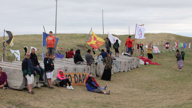 Dakota Access Pipeline in North Dakota on September 4, 2016. (Photo by Jourdan Bennett-Begaye, File)