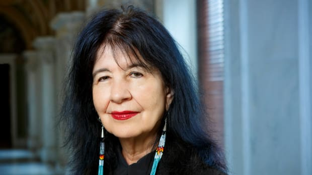 Joy Harjo inside the Library of Congress building. (Photo by Shawn Miller/Library of Congress)