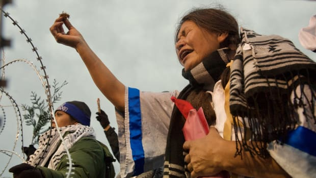 """Cheryl Angel is one of the Native women water protectors featured in """"End of the Line: The Women of Standing Rock,"""" directed and produced by Shannon Kring and co-produced by Pearl Daniel Means. (Courtesy image)"""
