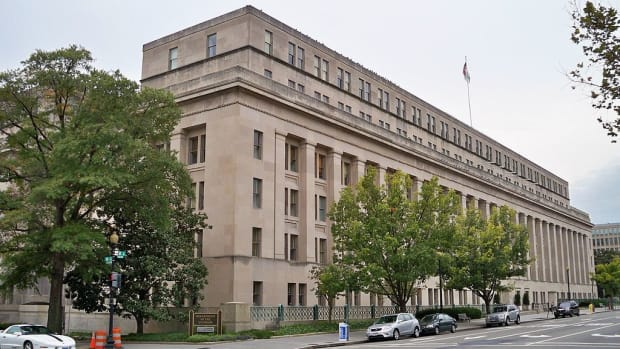 Pictured: The U.S. Department of the Interio in Washington DC., location of The Bureau of Indian Affairs and Bureau of Indian Education.