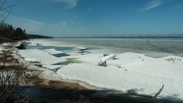 When ice on Lake Superior begins to thaw on the Bad River Band of Lake Superior Chippewa reservation in Wisconsin, it's time for sugarbush. (Photo by Mary Annette Pember)