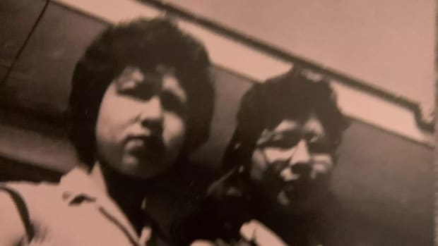 Shirley Soosay was last heard from by her family in 1979. She is shown here with her sister Bella in an undated photo. April 2021 (Photo courtesy of APTN)