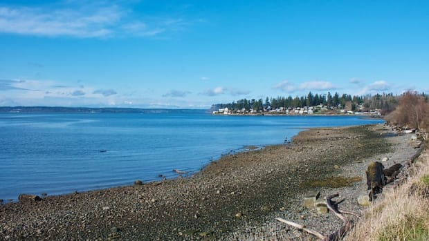 Tulalip Bay is the gateway to the Tulalip Tribes' traditional fishing grounds: Port Susan, Skagit Bay and the San Juan Islands to the north and northwest, and Puget Sound to the south. (Photo courtesy of Mark Pouley, Creative Commons)