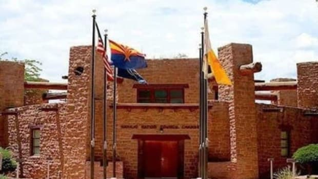 Pictured: The Navajo Nation Council building.