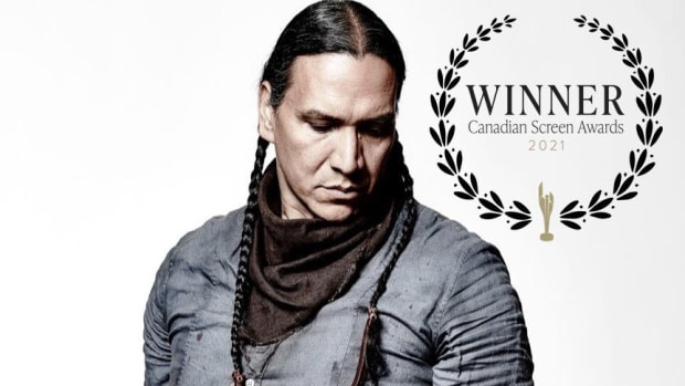First Nations Cree actor Michael Greyeyes won 'Best 2021 Performance by an Actor in a Leading Role' at the Canadian Screen Awards (Prospector Films, Elevation Pictures)
