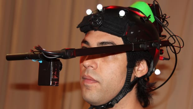Noah Watts, Crow, works on motion capture content for Assassin's Creed 3, a video game for which he's widely known as the voice of the character Ratonhnhaké:ton. (Photo courtesy of Noah Watts)
