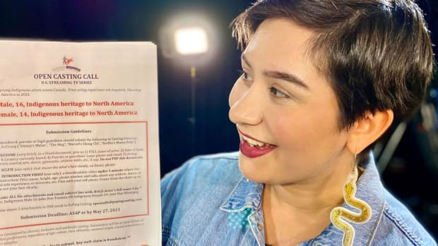 Kelsey Wavey, a casting assistant with PoPing Casting. (Photo courtesy of APTN News)