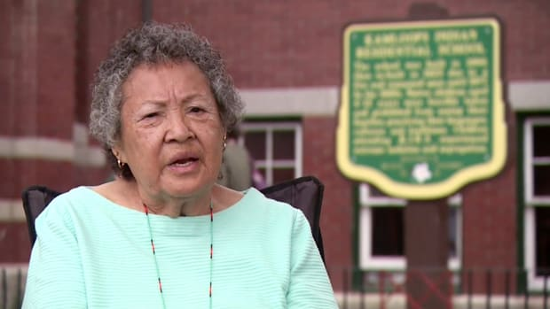 Rose Miller, 80, is former student at Kamloops Indian Residential School in British Columbia, Canada. Millers spoke with APTN National News the week of May 31, 2021. (Photo screen grab courtesy of APTN)