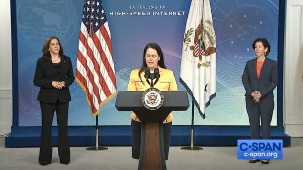 Shannon Holsey, treasurer of the National Congress of American Indians (NCAI) and President of the Stockbridge-Munsee Band of Mohican Indians, delivered opening remarks at the White House on June 3.