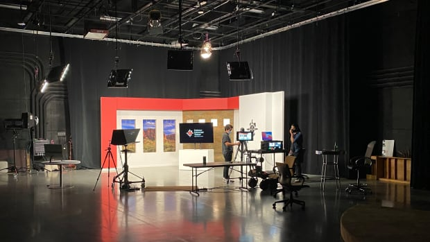 ICT studio - ICT is produced at Studio A at Arizona PBS and the Walter Cronkite School of Journalism and Mass Communication at Arizona State University. (ICT photo)