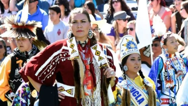 Natalie Weeks-O'Neal played Division 1 basketball at the University of Idaho before moving into sports medicine. Here, she was head dancer at a powwow in 2019. (Photo courtesy of Natalie Weeks-O'Neal)