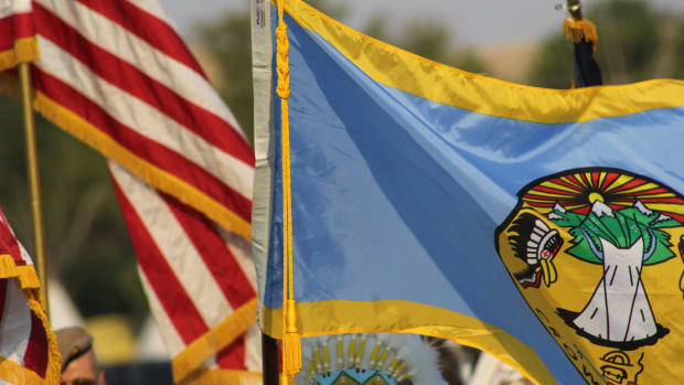 Crow Tribe flag. (Photo courtesy of Crow Tribe Facebook page)