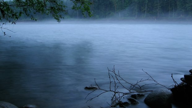 Mist rises up from the Skagit River in Washington state in this 2005 photo. (Photy by pfly via Creative Commons)