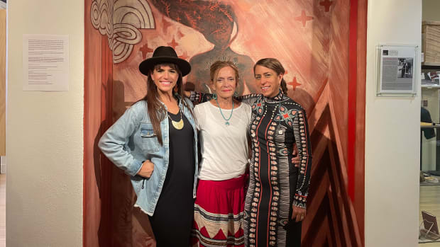 """Jennifer Loren (left) is an Emmy award winning journalist and documentarian. She is also executive producer, director and host of """"Osiyo, Voices of the Cherokee People."""" (Photo courtesy of Jennifer Loren)"""