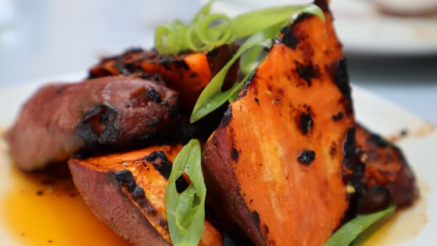 Owamni by the Sioux Chef opened on July 19 and prides itself on providing true North American cuisine. Sweet potatoes.