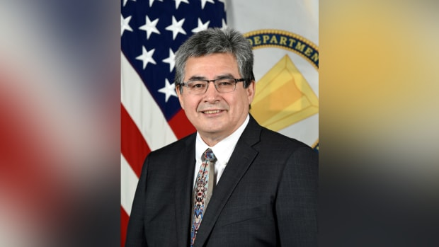 Jaime Pinkham, Nez Perce, is the acting assistant secretary of the Army Corps of Civil Works. (Photo courtesy of Army Pentagon Visual Office)