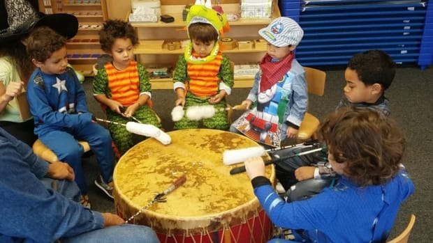 Students at the Montessori American Indian Childcare Center in Saint Paul, Minnesota. (Photo courtesy of Janice LaFloe)