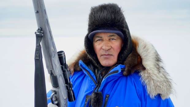 Roswell Schaffer, an Iñupiaq elder and hunter from Kotzebue, Alaska, who helped co-author the study. (Photo courtesy of Sarah Betcher, Farthest North Films, 2021)