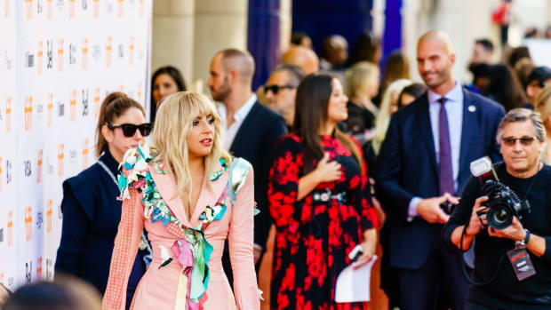 """Lady Gaga at the premiere of """"Gaga: Five Foot Two"""" at the 2017 Toronto International Film Festival. (Photo by Lee Chu, Creative Commons)"""