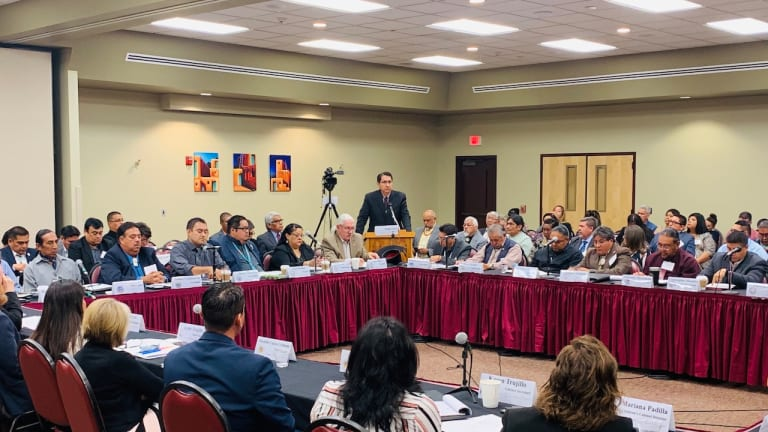 Navajo Nation President Nez presents on early childhood education and culturally appropriate curriculum at New Mexico State Tribal Leaders Summit