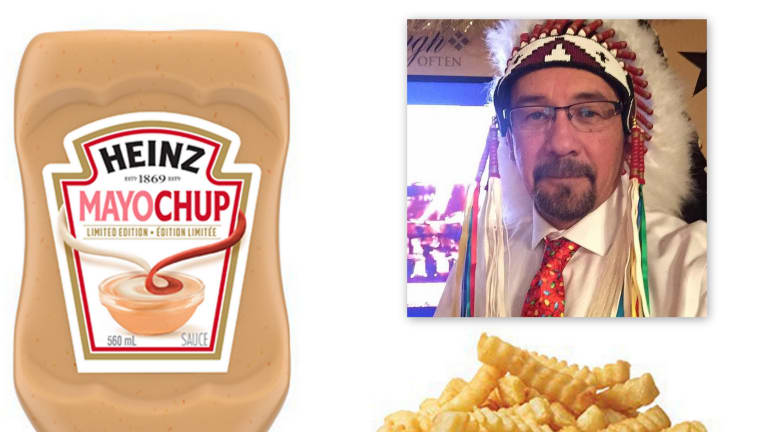 Heinz's ketchup & mayo condiment, 'Mayochup' gets joked online. It means sh**face in Cree