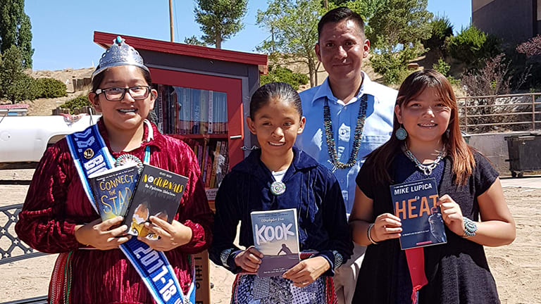 Duane Yazzie wins Todd H. Bol Award for Outstanding Achievement for launching Navajo Nation's first Little Free Library