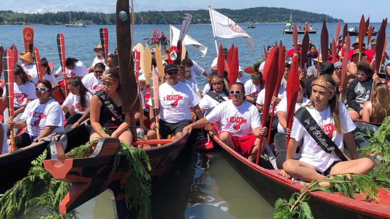 Canoe Journey generation youth are fulfilling the dream of its Seattle founder