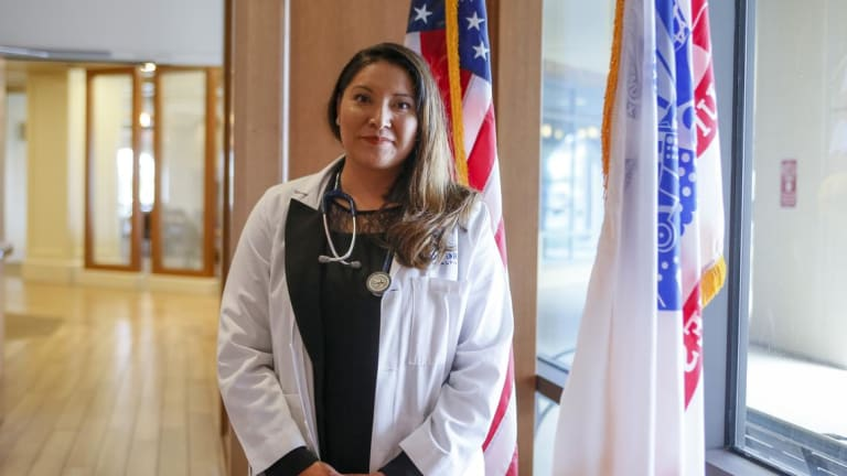 Despite family tragedies, Fargo woman is first female Native physician in ND National Guard
