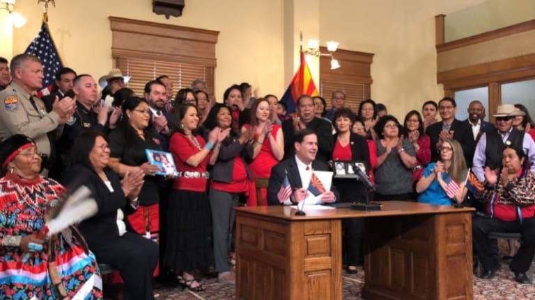 Governor Ducey signs bill taking action for Missing and Murdered Indigenous Women and Girls in Arizona
