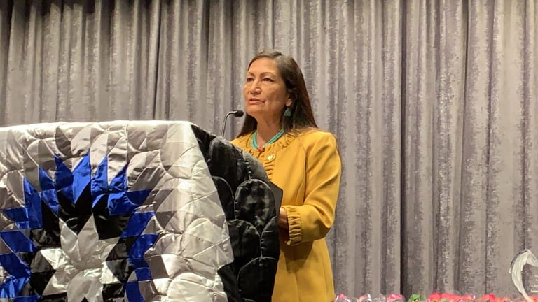 Haaland says Congress should use impeachment to get to the truth