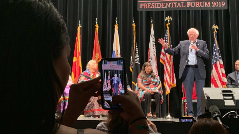 Sanders rocks forum says all Americans should be aware of Native contributions