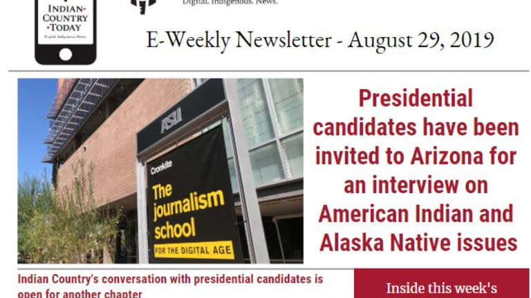 Indian Country Today E-Weekly Newsletter for August 29, 2019
